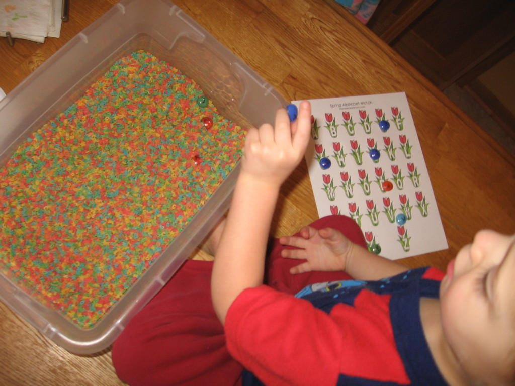 alphabet sensory bin (3) - the measured mom