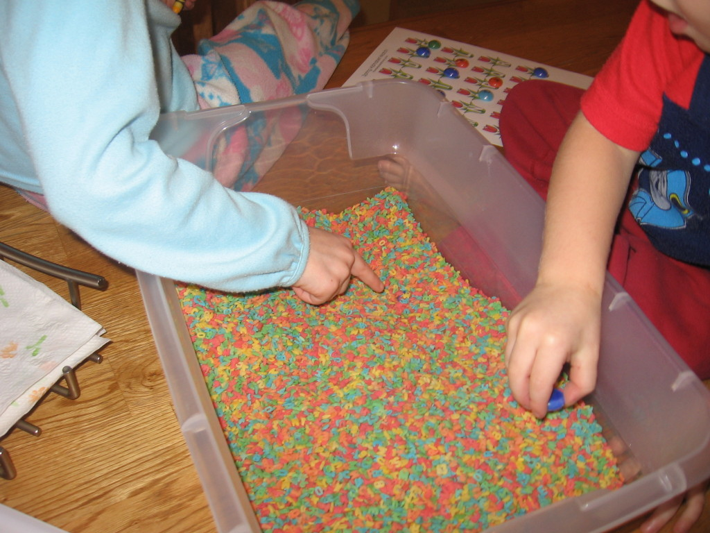 alphabet sensory bin (4) - the measured mom