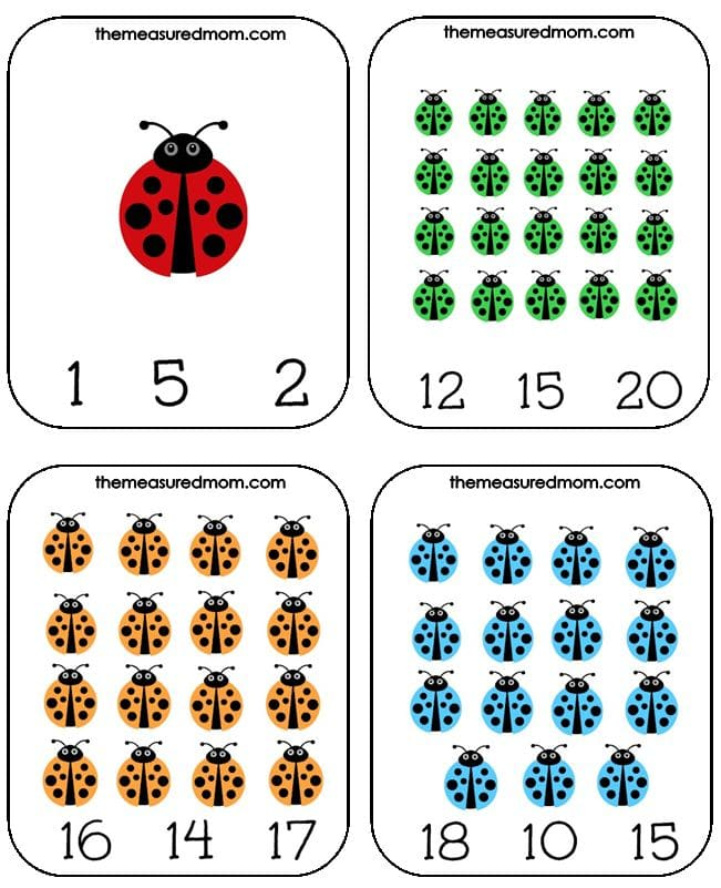 ladybug count and clip cards (2) - the measured mom