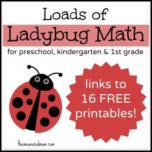 loads of ladybug math the measured mom2 300x300 Printable Counting Activity for Preschoolers: Ladybug Count & Clip Cards