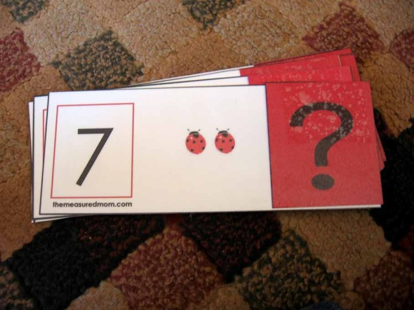 missing addend flip cards 1 the measured mom047 590x442 Missing Addend Activity: Ladybug flip cards!