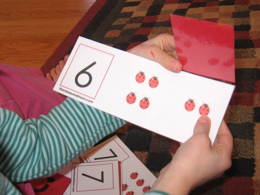 missing addend flip cards 3 the measured mom 1024x768 Missing Addend Activity: Ladybug flip cards!