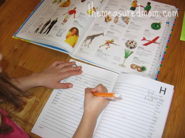 printable spelling dictionary (4) - the measured mom066