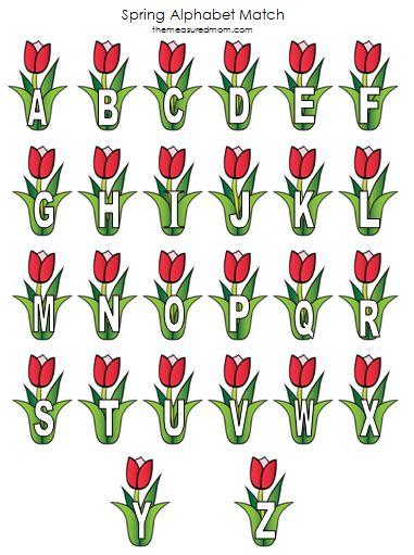 spring tulips printable