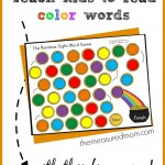 teach kids to read color words with this free game 150x150 Free Printables