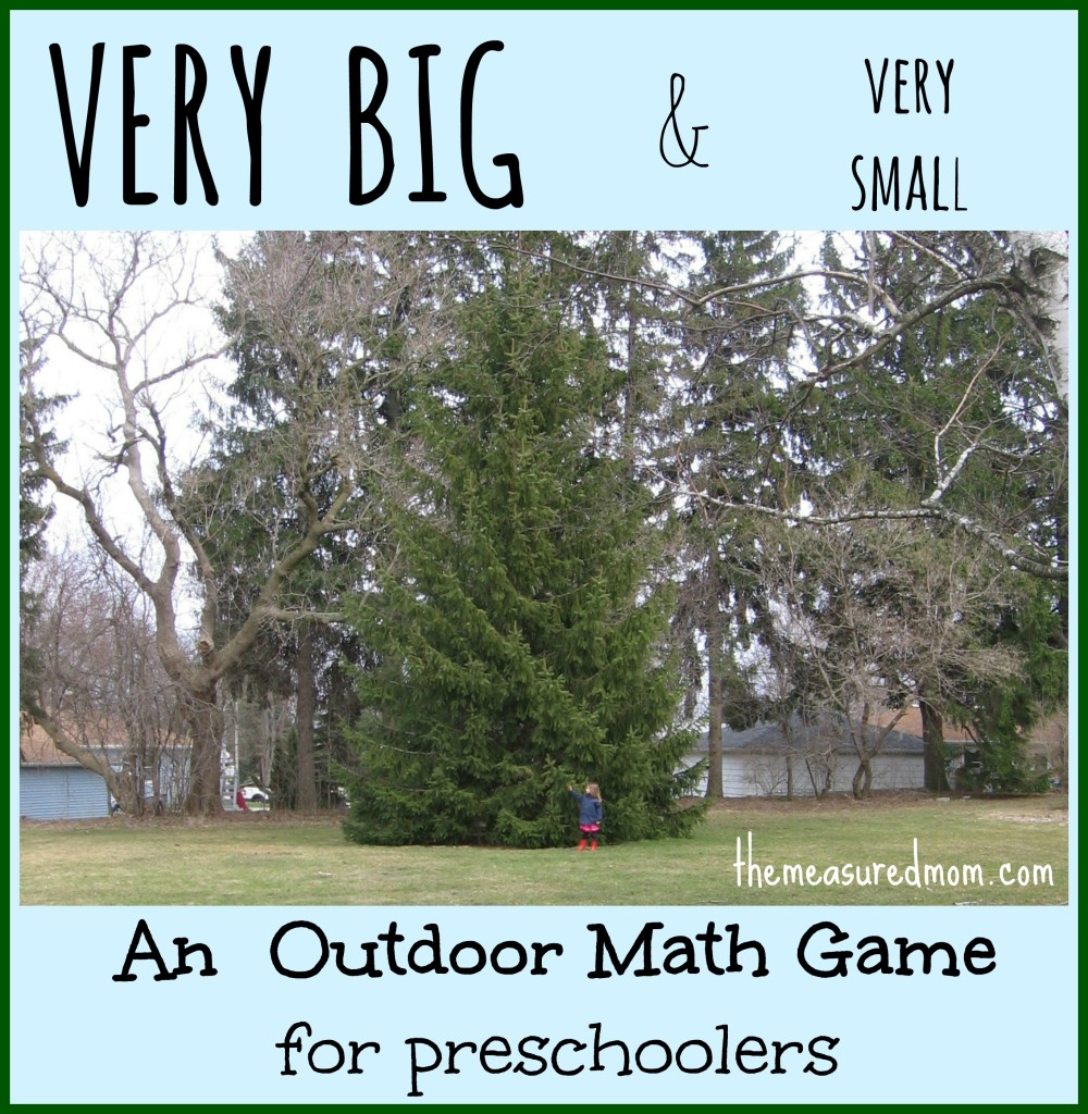 very big and very small4 1000x1024 Outdoor Math Game for Preschoolers: Exploring Size (with printable action cards)