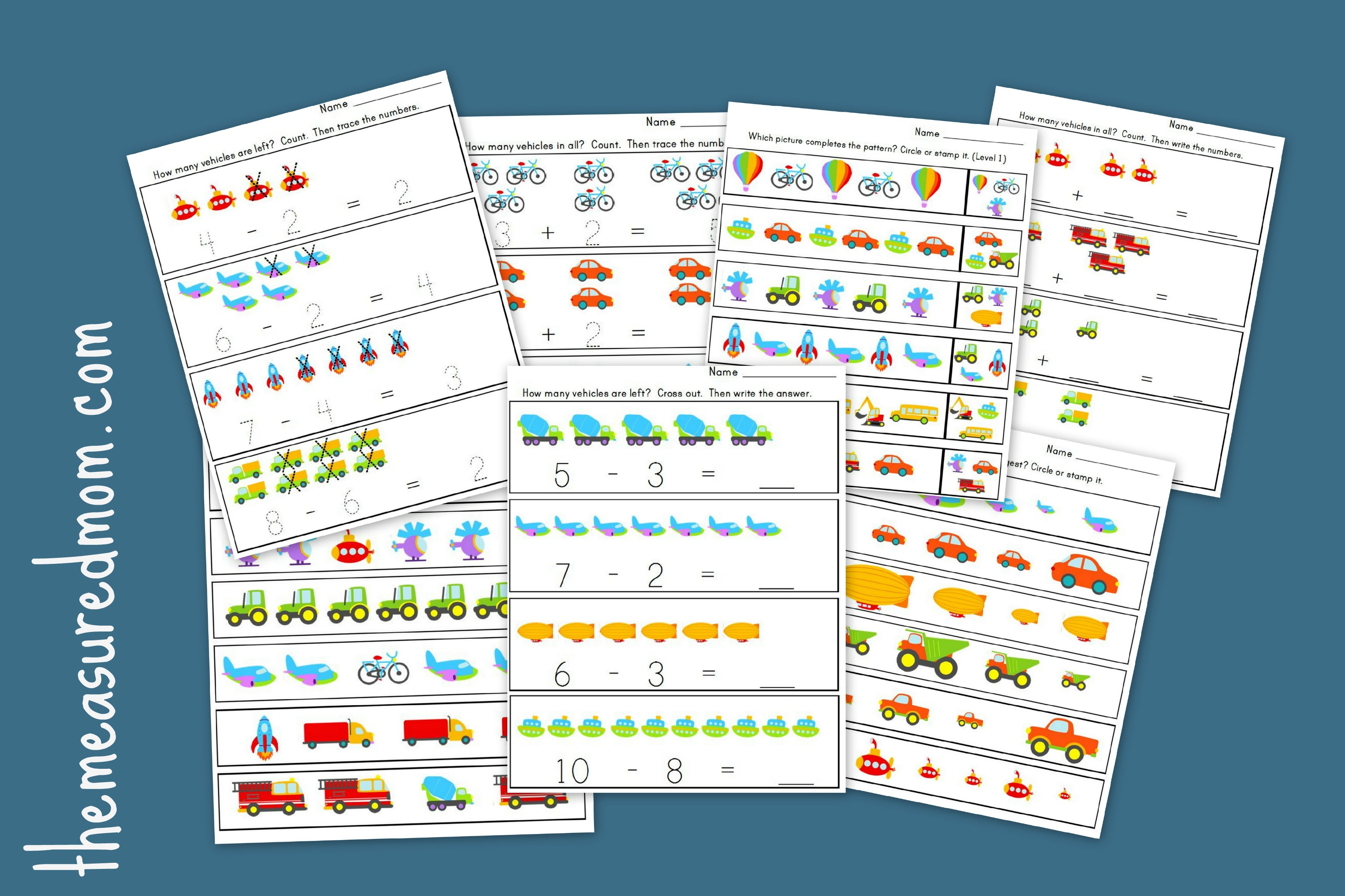 Transportation Worksheets for Preschool – 20 free pages of Literacy ...