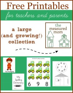 free printables from the measured mom 235x300 Transportation Worksheets for Preschool   20 free pages of Literacy and Math