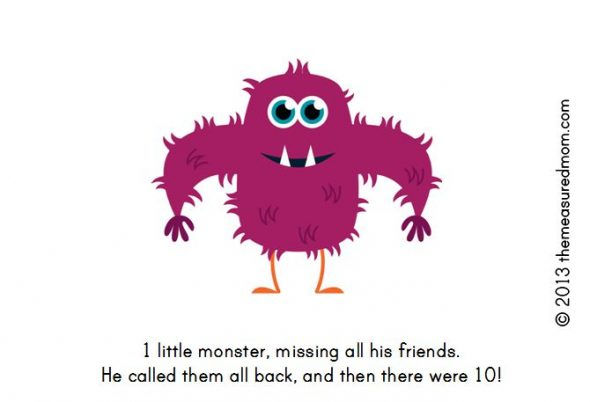 monster book10 590x402 Free Printable Book for Early Readers: Ten Little Monsters