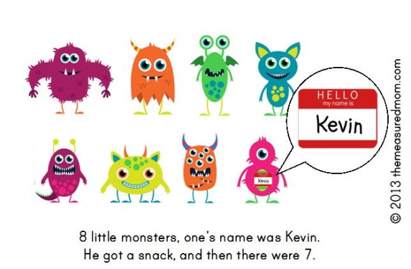 monster book3 590x386 Free Printable Book for Early Readers: Ten Little Monsters