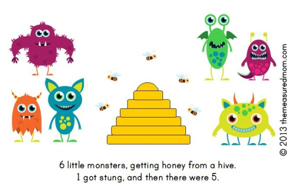 monster book5 590x378 Free Printable Book for Early Readers: Ten Little Monsters