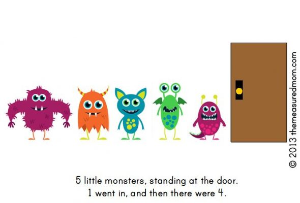 monster book6 590x400 Free Printable Book for Early Readers: Ten Little Monsters
