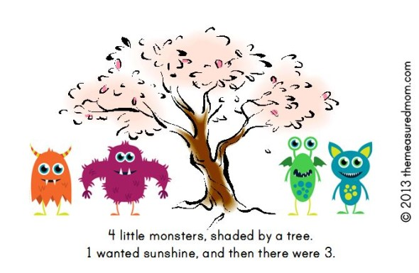 monster book7 590x385 Free Printable Book for Early Readers: Ten Little Monsters