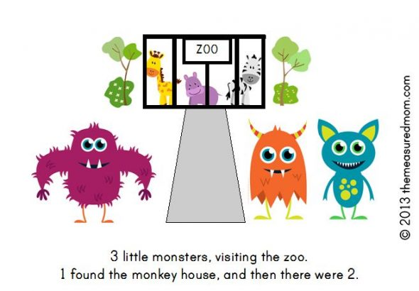 monster book8 590x410 Free Printable Book for Early Readers: Ten Little Monsters