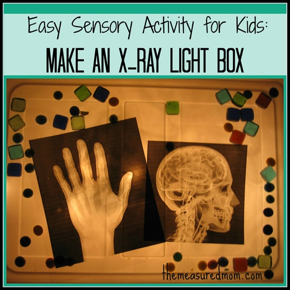 simple sensory fun x ray light box the measured mom1 Easy Sensory Activity for Kids: Make an X Ray Light Box!