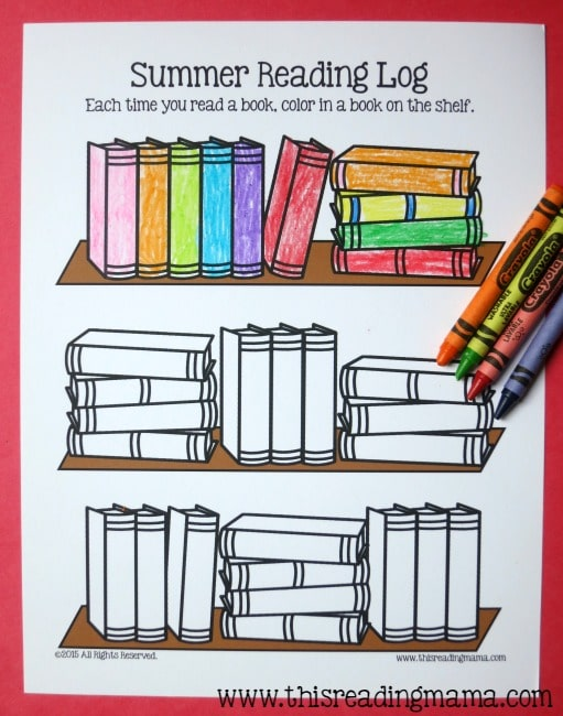 summer reading log trm