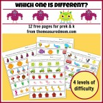 which one is different 12 free pages for preK and K the measured mom112 150x150 Free Printables