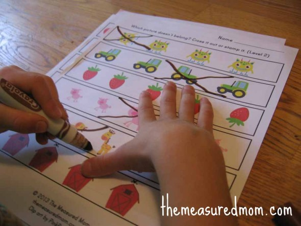 ... - worksheets for preschool and kindergarten - The Measured Mom