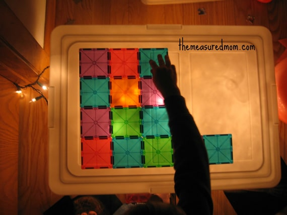 x ray sensory bin 6 the measured mom Easy Sensory Activity for Kids: Make an X Ray Light Box!