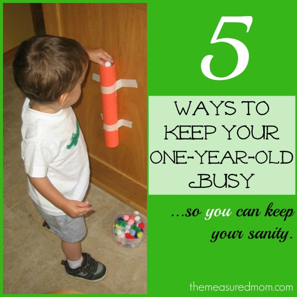 5 ways to keep toddler busy the measured mom 590x590 Toddler time: 5 ways to keep a 1 year old busy