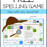 Free spelling game for any word list 1 the measured mom 150x150 Free Printables