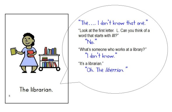 librarian snip 590x384 Free Printable Emergent Readers: sight word the
