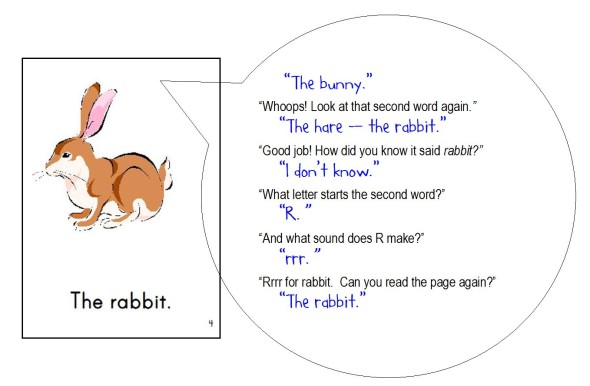 rabbit page snip 590x386 Free Printable Emergent Readers: sight word the