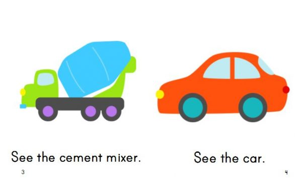 Here's my third set of free printable emergent readers - this time with a transportation theme!