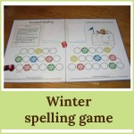 winter spelling game 150x150 Free Printables