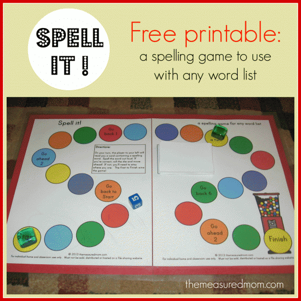 spell it a printable spelling game for any word list k 3 the measured mom. Black Bedroom Furniture Sets. Home Design Ideas