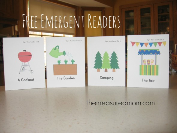 Looking for free summer emergent readers? You'll find four at The Measured Mom!