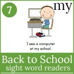 back to school sight word readers 150x150 Free Printables