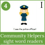 community helpers sight word readers 150x150 Free Printables