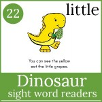 dinosaur sight word readers 150x150 Free Printables