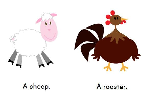 farm animals snip Free Emergent Readers