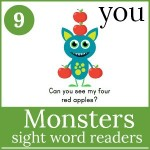 monsters sight word readers 150x150 Free Printables