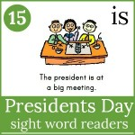 presidents day sight word readers 150x150 Free Printables
