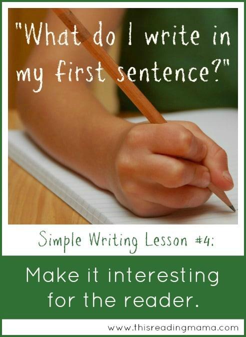 simple writing lesson 4