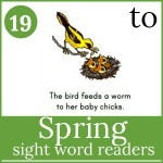 spring sight word readers 150x150 Free Emergent Readers
