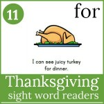 thanksgiving sight word readers 150x150 Free Printables
