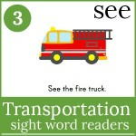 transportation sight word readers 150x150 Free Printables