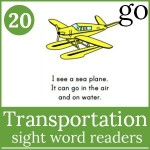 transportation sight word readers set 2 150x150 Free Printables