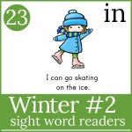 winter sight word for galery