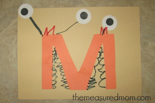 Need some letter M crafts for your preschool class? You'll find 11 ideas over at The Measured Mom!