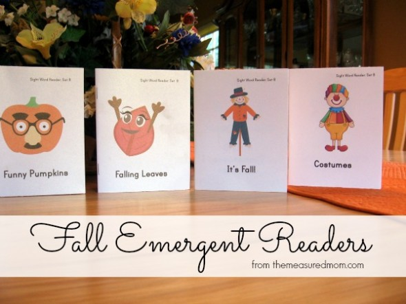 fall emergent readers 1 the measured mom 590x442 Free Fall Emergent Readers