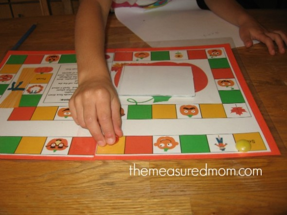 fall spelling game 3 the measured mom 590x442 Free spelling game for Fall   use with any word list!