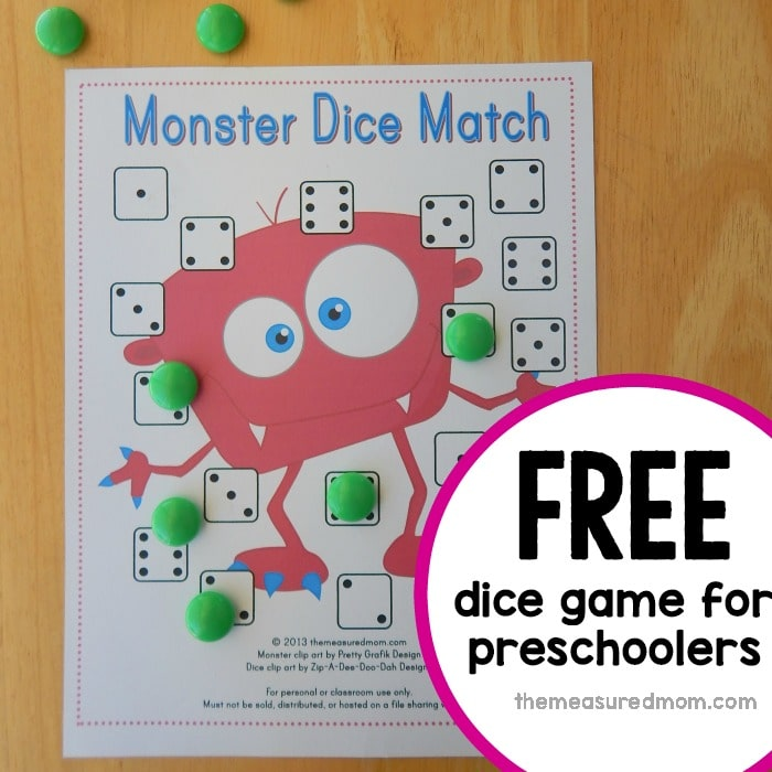 free dice game for preschoolers facebook square