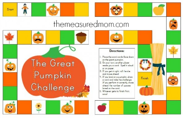 free fall spelling game 1 the measured mom 590x380 Free spelling game for Fall   use with any word list!