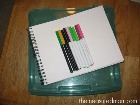 journal writing in preschool 2 the measured mom 590x442 How to teach journal writing in preschool