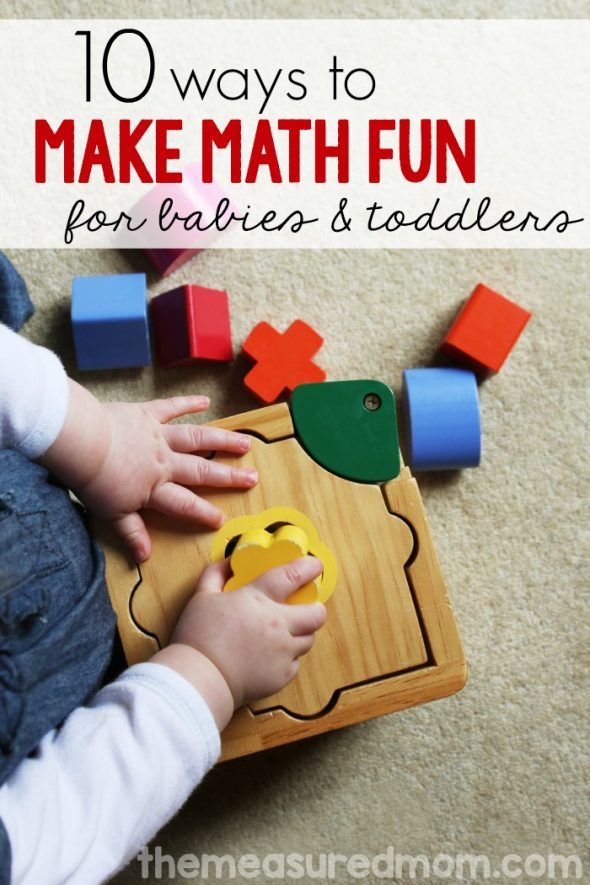 Baby Amp Toddler Math Activities The Measured Mom